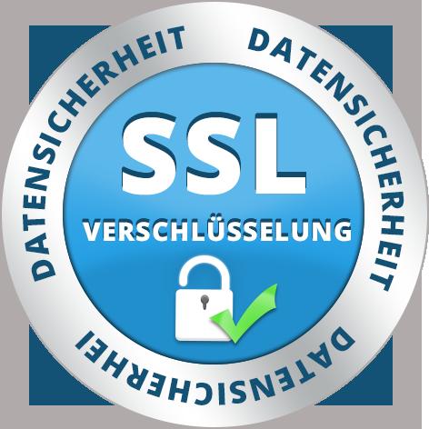 Sicheres Einkaufen in unserem Shop dank SSL Verschlüsselung Ihrer Daten